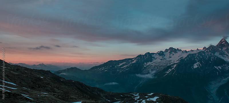 Alpine Sunser Panorama by Neil Warburton for Stocksy United
