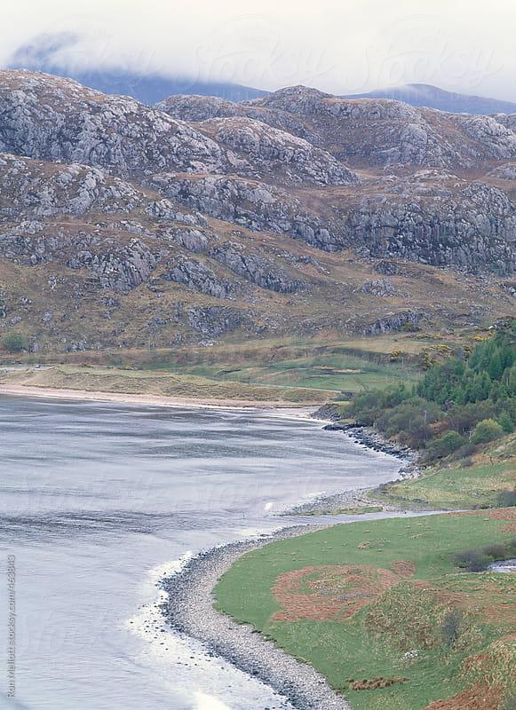 loch torridon scotland united kingdom shoreline spring rainstorm rain showers highlands coast by Ron Mellott for Stocksy United