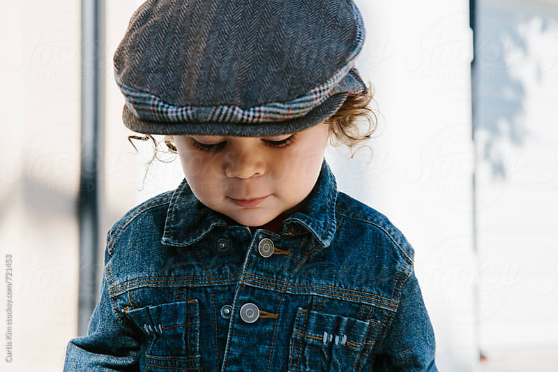 Toddler model boy in his hipster outfit by Curtis Kim for Stocksy United