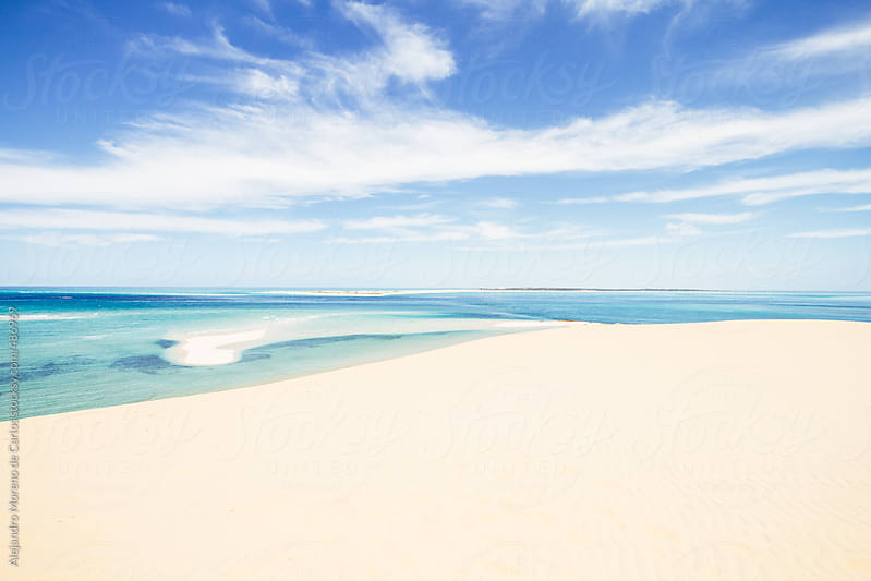 Paradisiac beach with white sand and turquoise sea by Alejandro Moreno de Carlos for Stocksy United