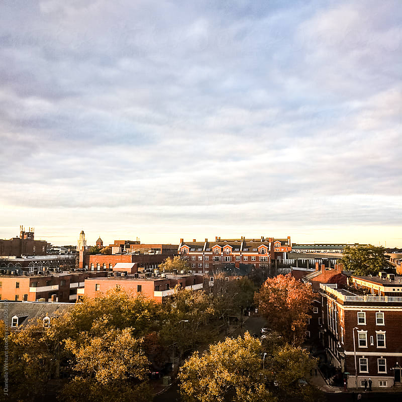 View of fall in Salem, Massachusetts from high rise view by J Danielle Wehunt for Stocksy United