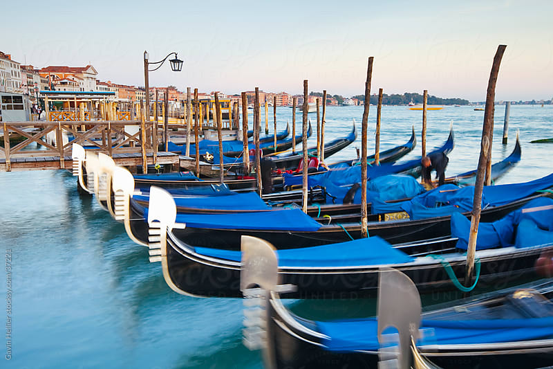 Quay at St Mark's Square with Gondolas, Venice, Italy, Europe by Gavin Hellier for Stocksy United