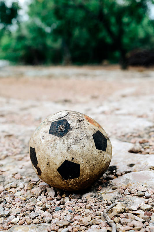 old soccer ball by juan moyano for Stocksy United