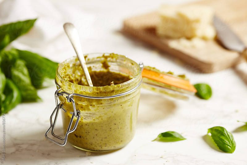 Pesto sauce by Martí Sans for Stocksy United