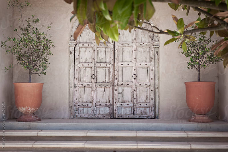 timber doorway at a winery by Gillian Vann for Stocksy United
