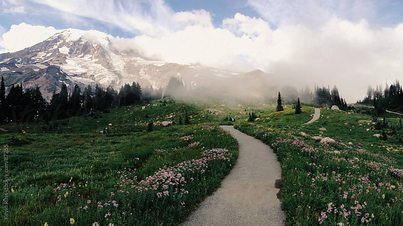 Pathway to Mountain by Kevin Russ for Stocksy United