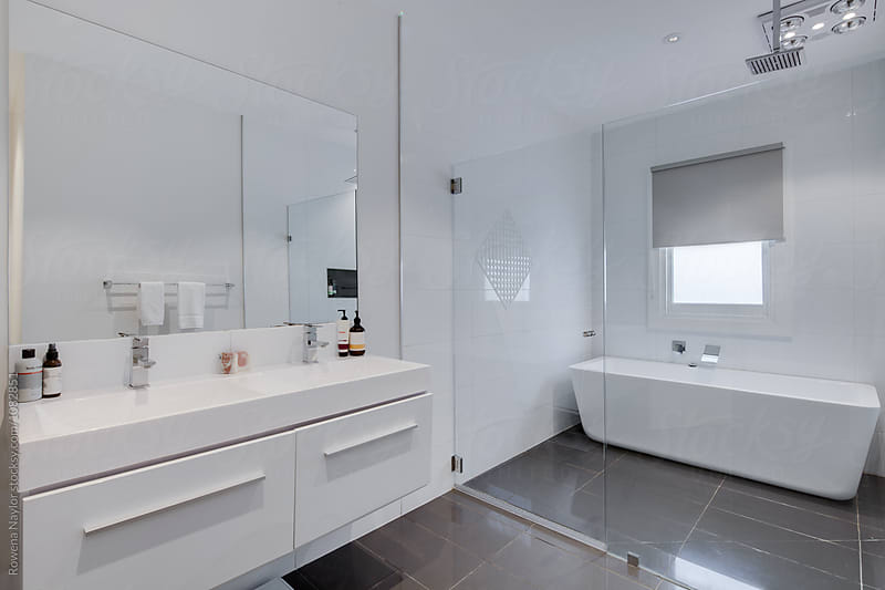 Spacious bathroom by Rowena Naylor for Stocksy United