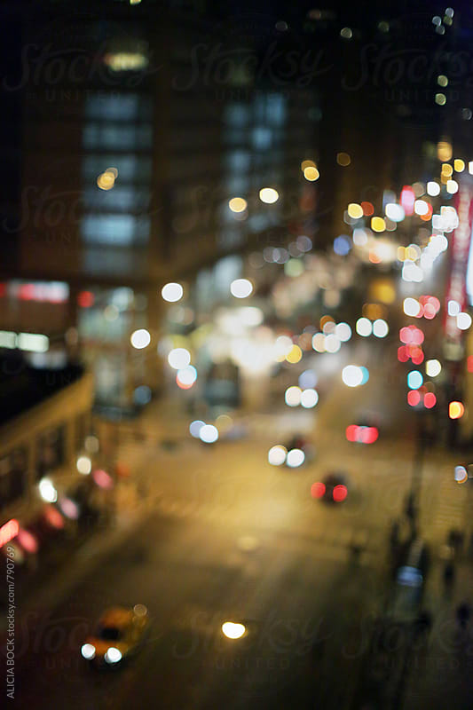 City Lights Of Downtown Chicago Illinois by ALICIA BOCK for Stocksy United