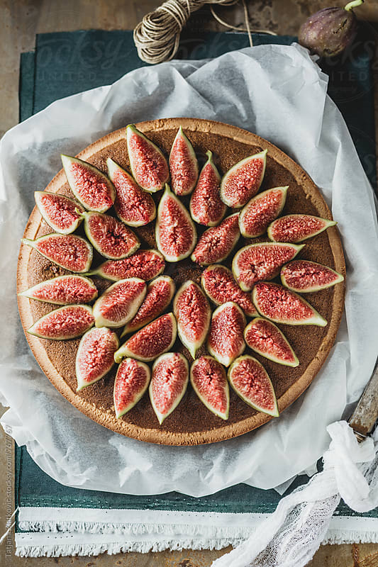 Fig tart with honey by Tatjana Zlatkovic for Stocksy United