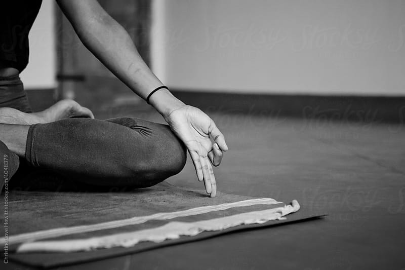 Meditation on yoga class by Christine Love Hewitt for Stocksy United