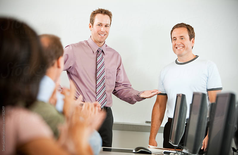 Computer Class: Student Gets Applause for Best Work by Sean Locke for Stocksy United