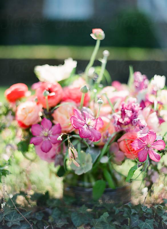 English Garden Floral Arrangement by Marta Locklear for Stocksy United