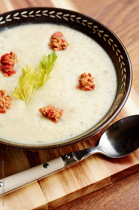 Cream of Celery Soup by Harald Walker for Stocksy United