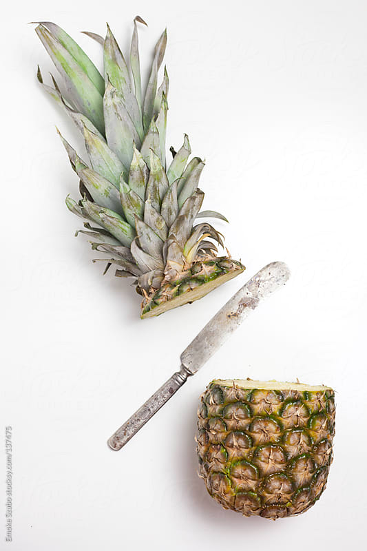 Fresh sliced organic pineapple  by Emoke Szabo for Stocksy United