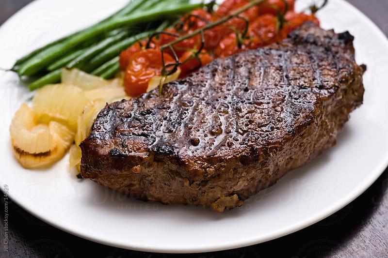 Grilled Striploin Steak by Jill Chen for Stocksy United