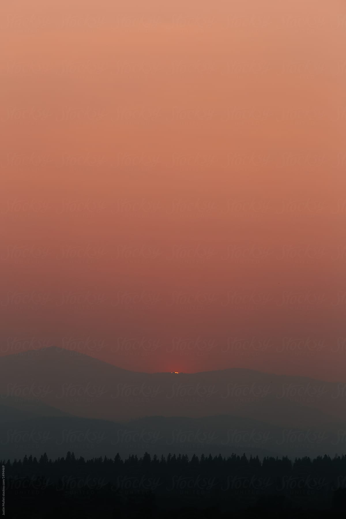 Smoky Sunset Gradient Stocksy United