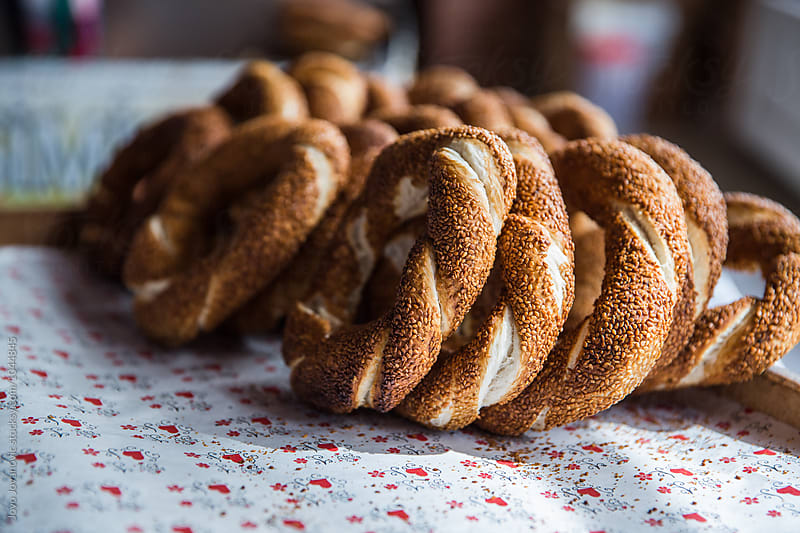 Fresh wholegrain bagels  by Jovo Jovanovic for Stocksy United