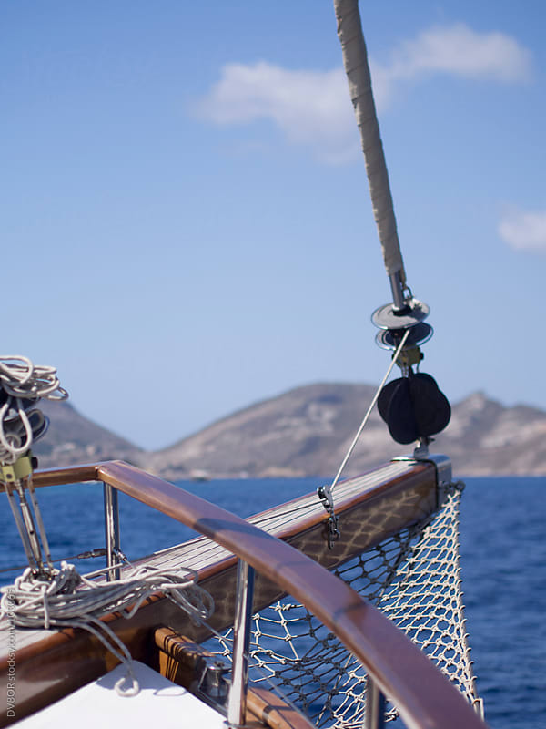 View across the front of a traditional Turkish sailing boat  by DV8OR for Stocksy United