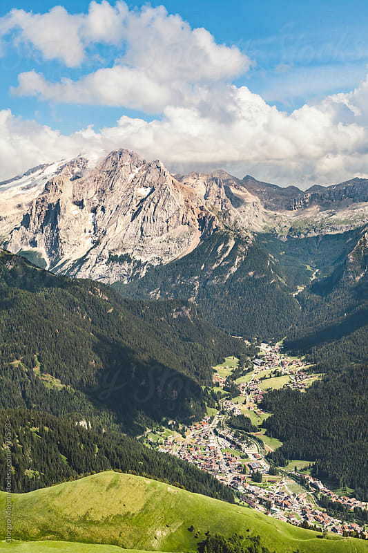 Alpine Landscape with Dolomite Mountains in Italy by Giorgio Magini for Stocksy United