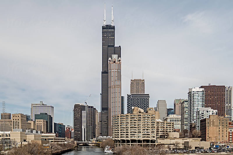 Chicago Skyline seen from the South by Melanie Kintz for Stocksy United