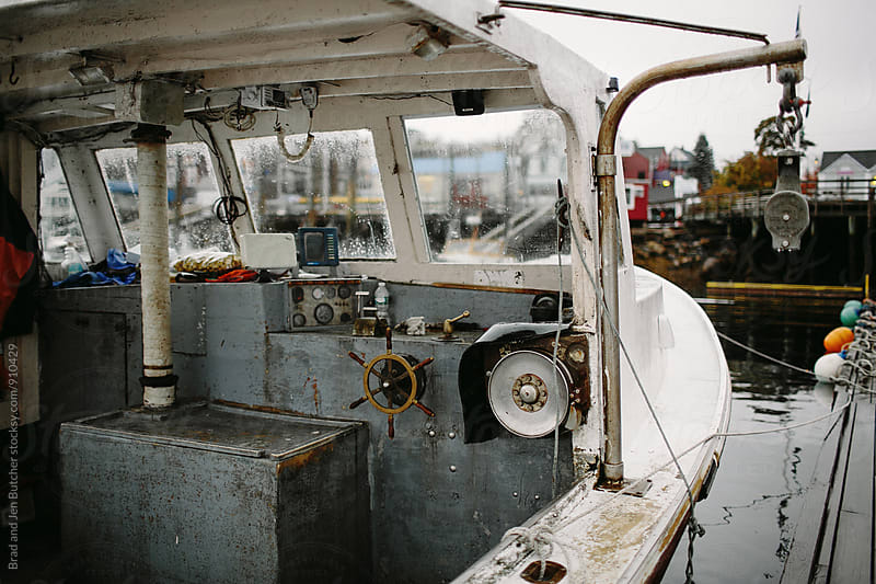 Inside of Fishing Boat by Brad and Jen Butcher for Stocksy United