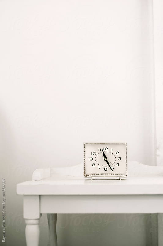 Vintage Alarm Clock at Summer Cottage by Raymond Forbes LLC for Stocksy United