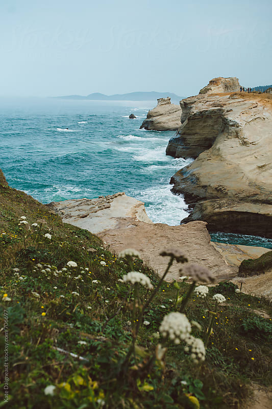 Beautiful rocky section of the Oregon coast.  by Kate Daigneault for Stocksy United