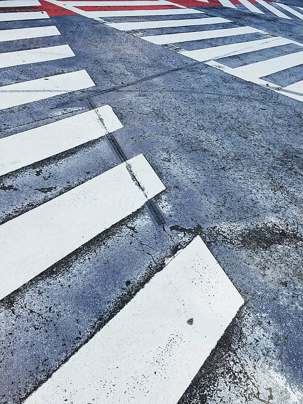 Zebra Crossing in Tokyo Japan by VISUALSPECTRUM for Stocksy United