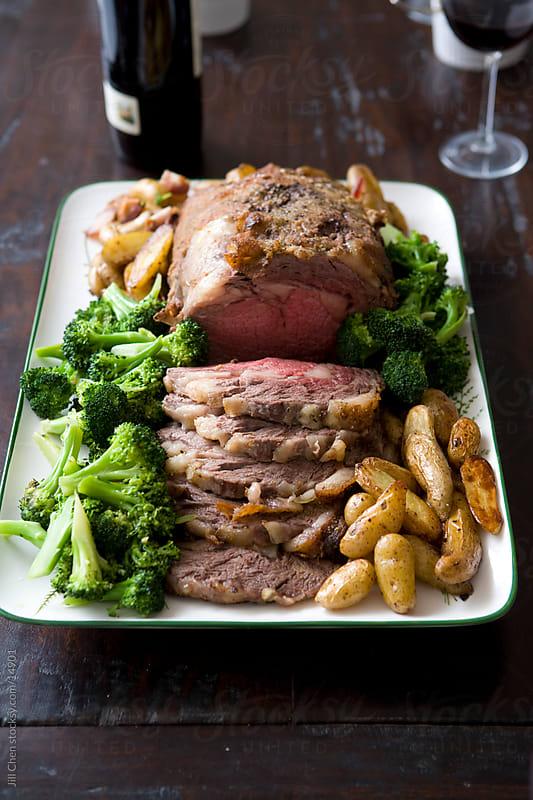 Roast Beef Dinner III by Jill Chen for Stocksy United