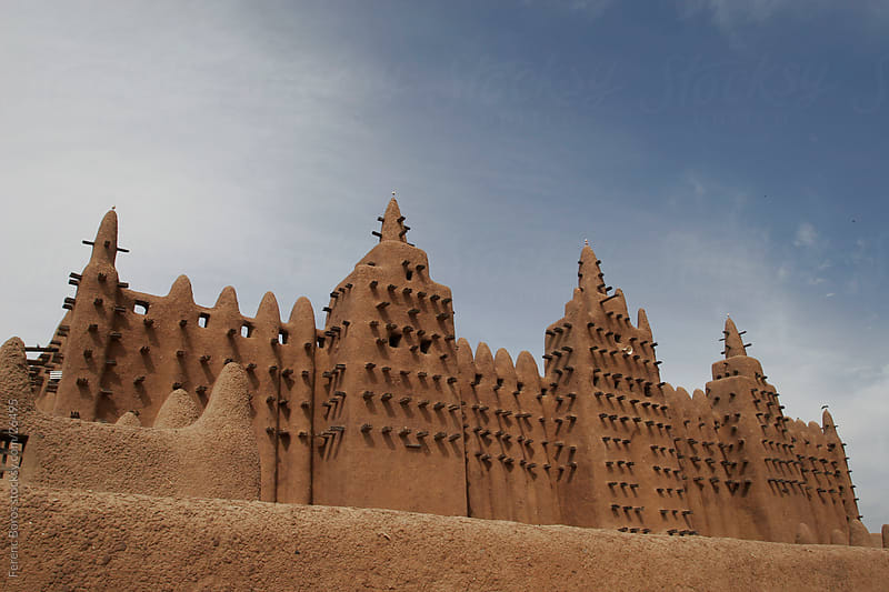 Great Mosque in Djenné by Ferenc Boros for Stocksy United