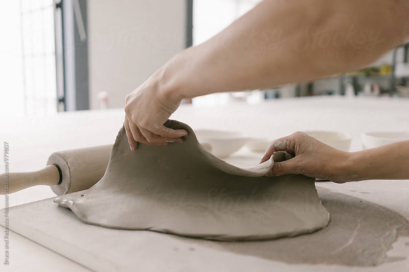 Ceramicist Making a Bowl by Bruce and Rebecca Meissner for Stocksy United