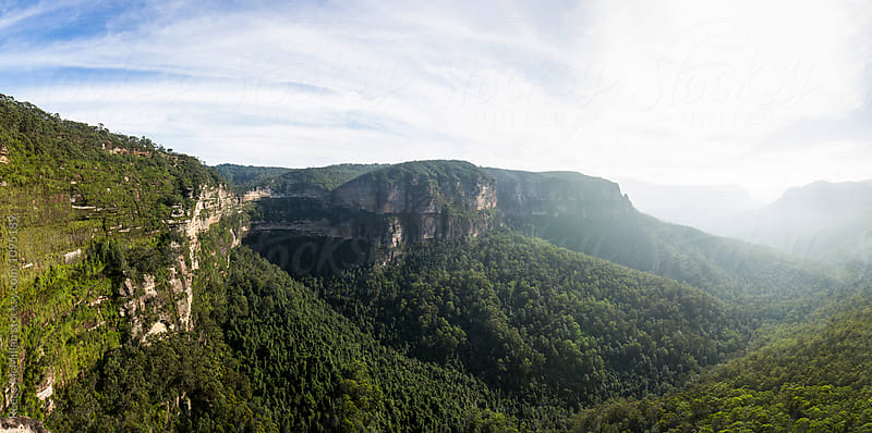 Panorama of Blue Mountains by Reece McMillan for Stocksy United