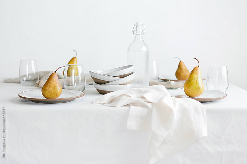 Simple table setting by Ellie Baygulov for Stocksy United