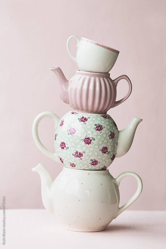 Teapot tower by Ruth Black for Stocksy United