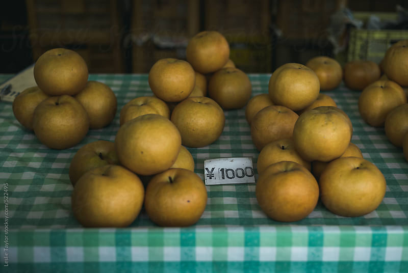 Bunches Of Asian Pears For Sale by Leslie Taylor for Stocksy United