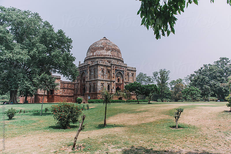 Bara Gumbad tomb and mosque, Lodhi Gardens, New Delhi by Luca Pierro for Stocksy United