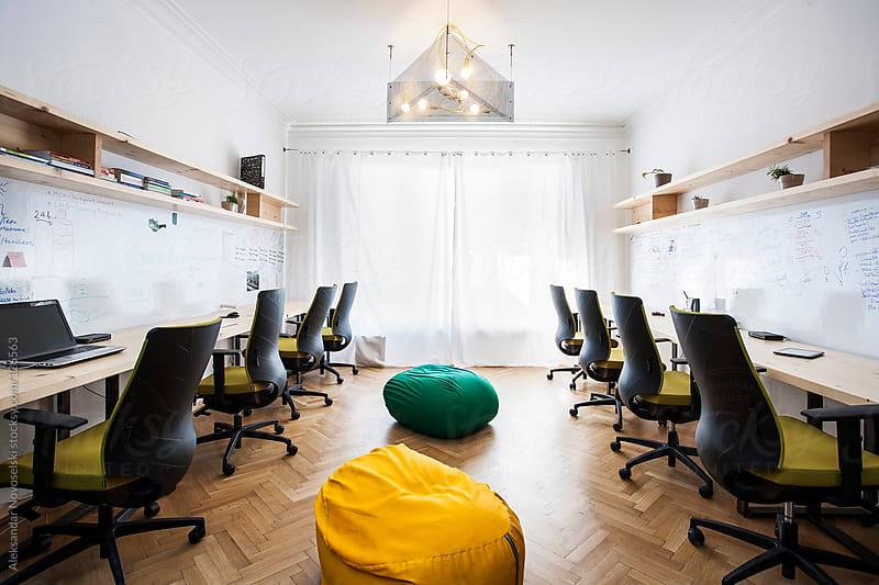 Contemporary office by Aleksandar Novoselski for Stocksy United
