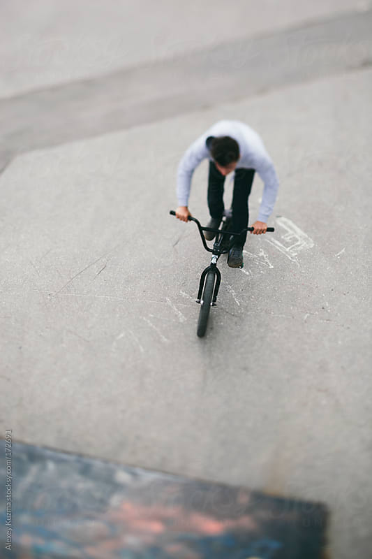 bmx rider by Alexey Kuzma for Stocksy United
