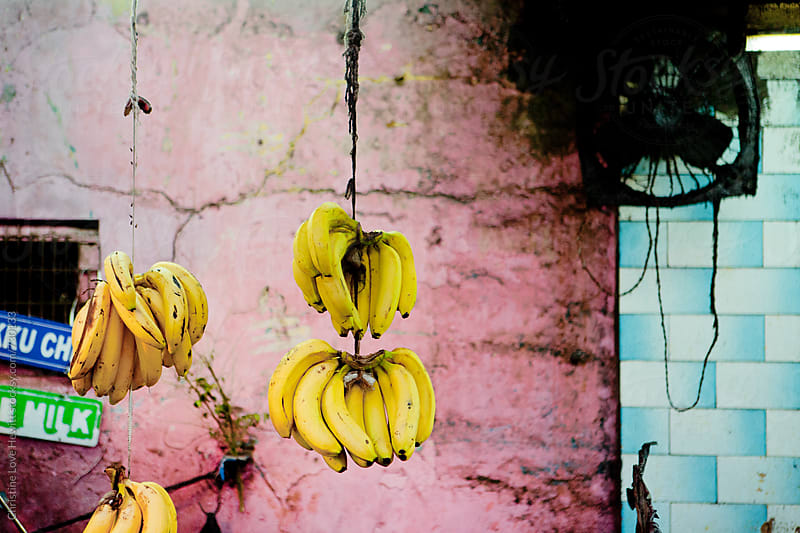 Bananas in a market by Christine Hewitt for Stocksy United
