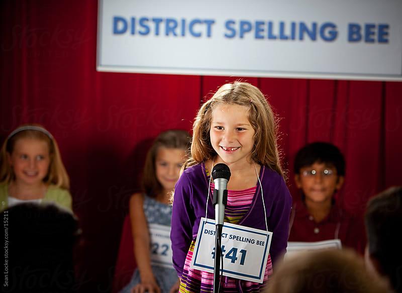Spelling: Schoolgirl Tries to Spell Word by Sean Locke for Stocksy United