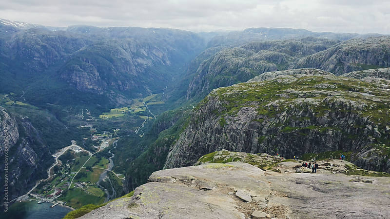 Views over Norwegian landscape seen during Kjeragbolten hike by Kaat Zoetekouw for Stocksy United
