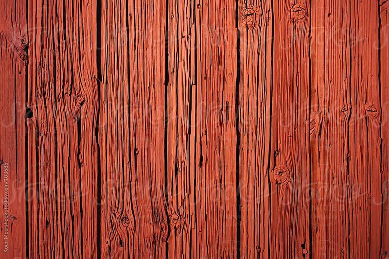 Red painted wood of a barn. by Koen Meershoek for Stocksy United