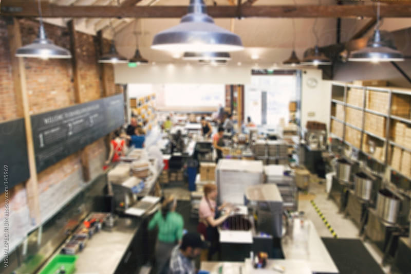 Busy Coffee Shop Defocused by VISUALSPECTRUM for Stocksy United