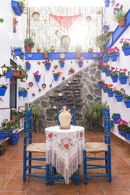 Typical spanish courtyard by ACALU Studio for Stocksy United