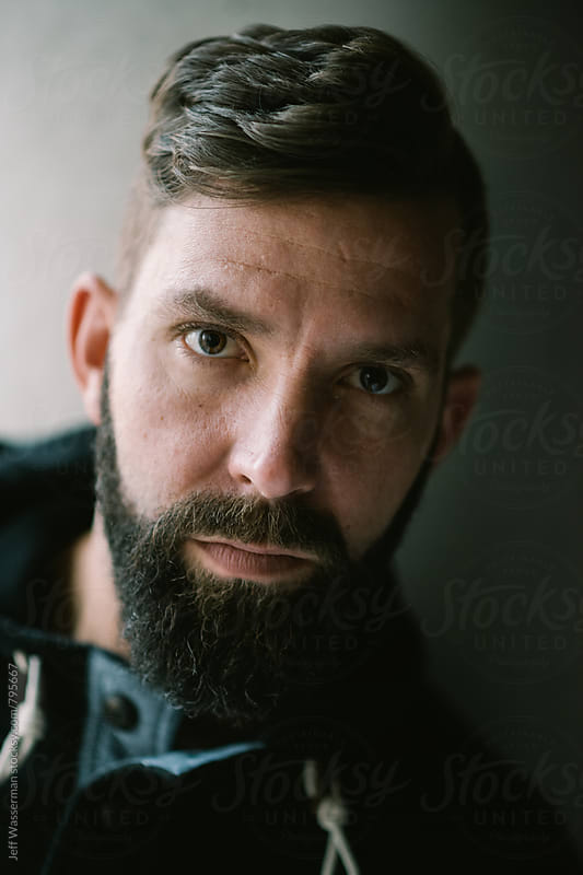 Portait of Handsom Man with Beard by Jeff Wasserman for Stocksy United