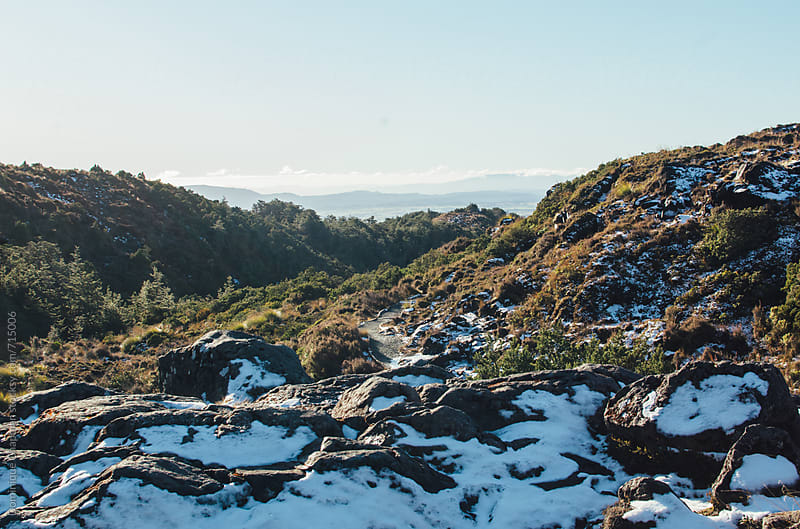 Landscape over Tongariro National Park by Dominique Chapman for Stocksy United