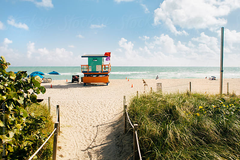Miami Beach Lifeguard Hut by Stephen Morris for Stocksy United