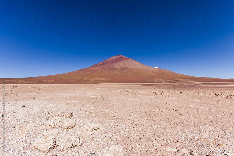 Red mountain on desert in Bolivia by Alejandro Moreno de Carlos for Stocksy United