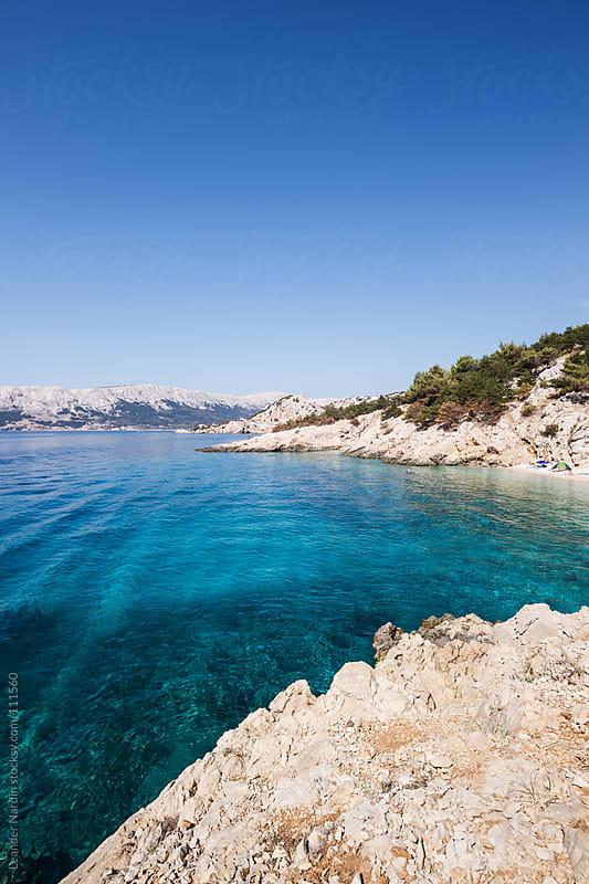 beautiful bay near baska by Leander Nardin for Stocksy United