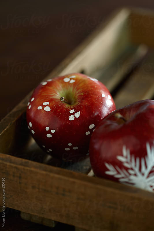 Decorated red apples by Miquel Llonch for Stocksy United